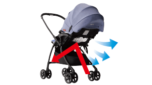 Aprica Luxuna Comfort BL รถเข็นเด็ก